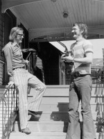 Frank Davey visits us at Balaclava Street. Can you believe those pants?