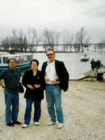 With Roy Miki and Nicole Brossard on the bayou.